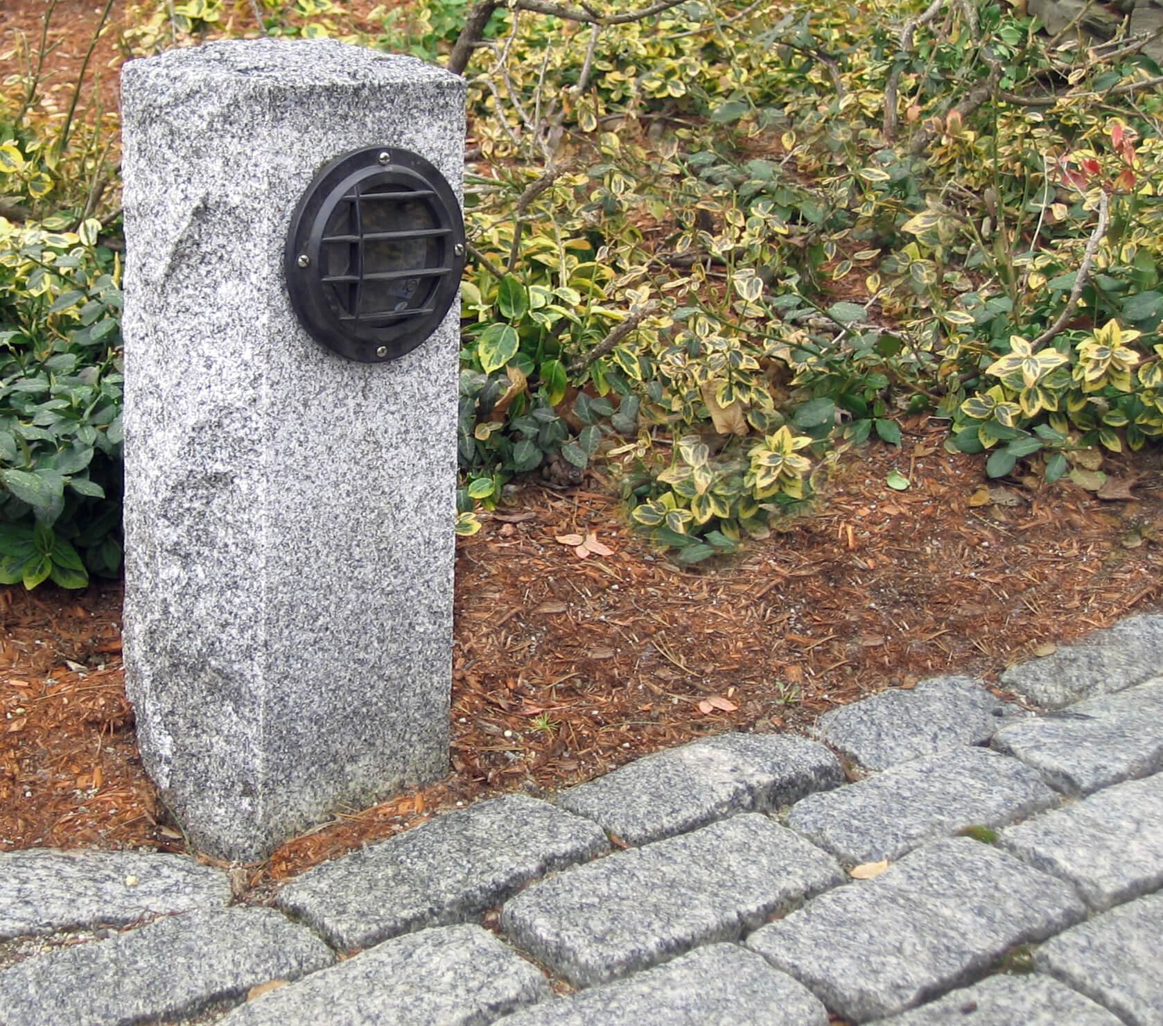 Swenson Granite Works Low Profile Walkway Light Post