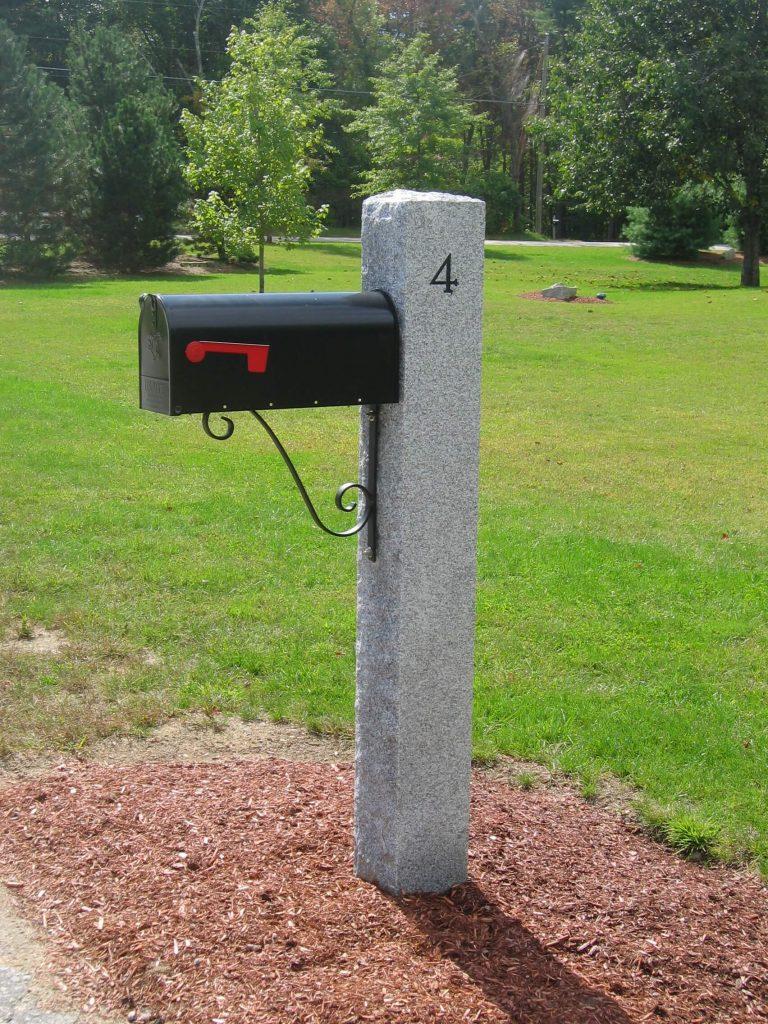 Mailbox Granite Post 1052 Swenson Granite 100 Natural