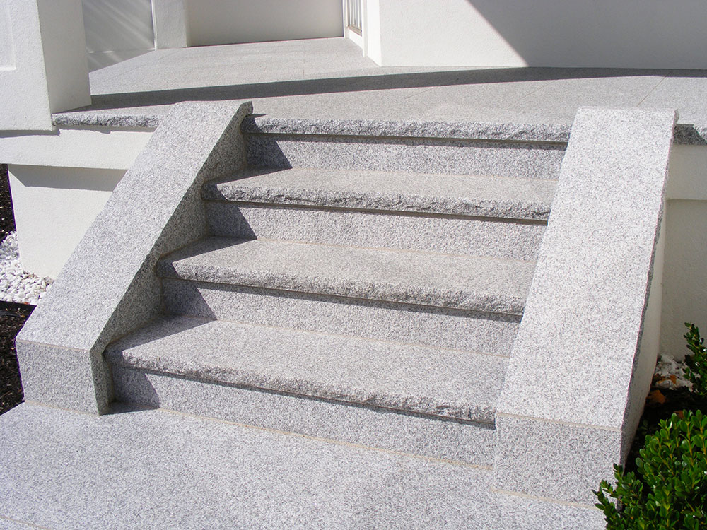 Woodbury Gray granite steps