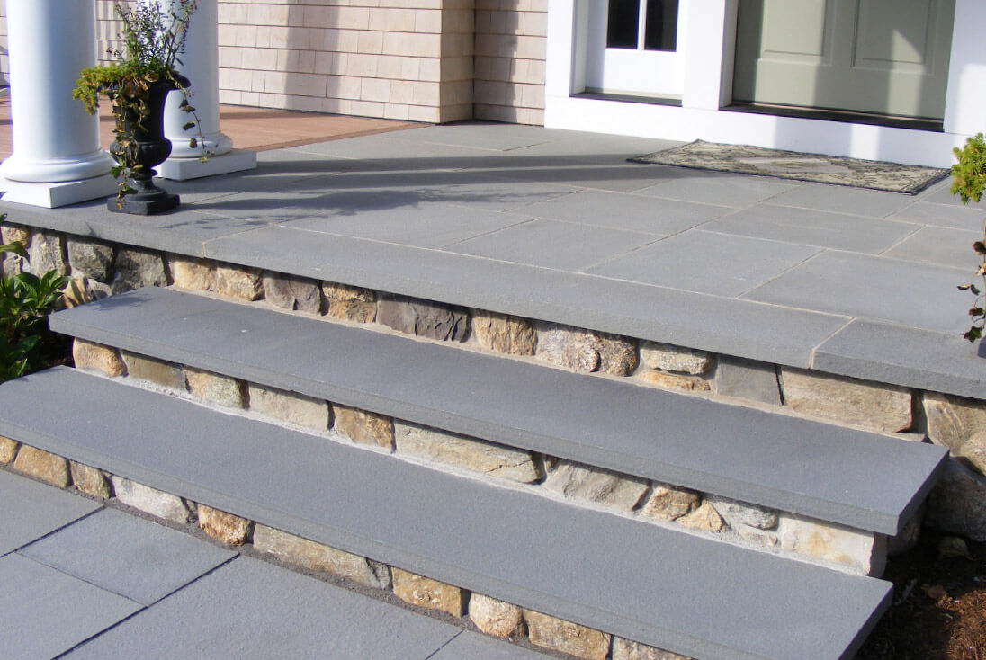 bluestone natural stone treads, stoop, entry way, front steps