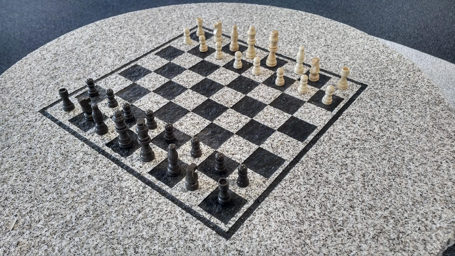 woodbury gray chess table